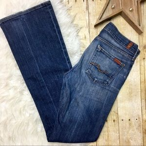 7 For All Mankind Medium Wash Long Bootcut Jeans
